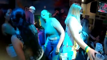 Party girls twist their ass and show nice bodies