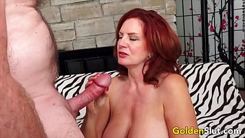 Mature ladies love to fuck and give men blowjob in a variety of poses
