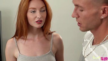 Redhead girl and blonde gave the guy a real and hot threesome