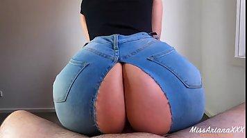 Big butt brunette spreads her legs for homemade POV porn